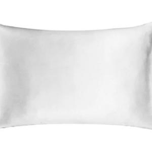 SNOW WHITE SILK PILLOWCASE